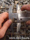 Измерение размера ячейки сетки рифленой